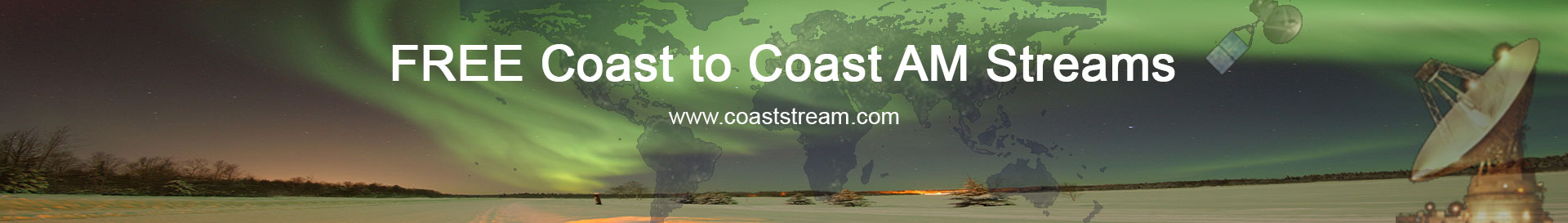 Free Coast to Coast AM Listen Links   Listen for Free - Why Pay?